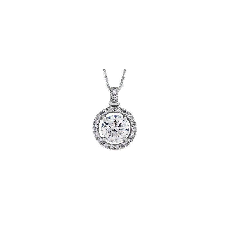 Maple Leaf Diamonds Diamond Halo Pendant