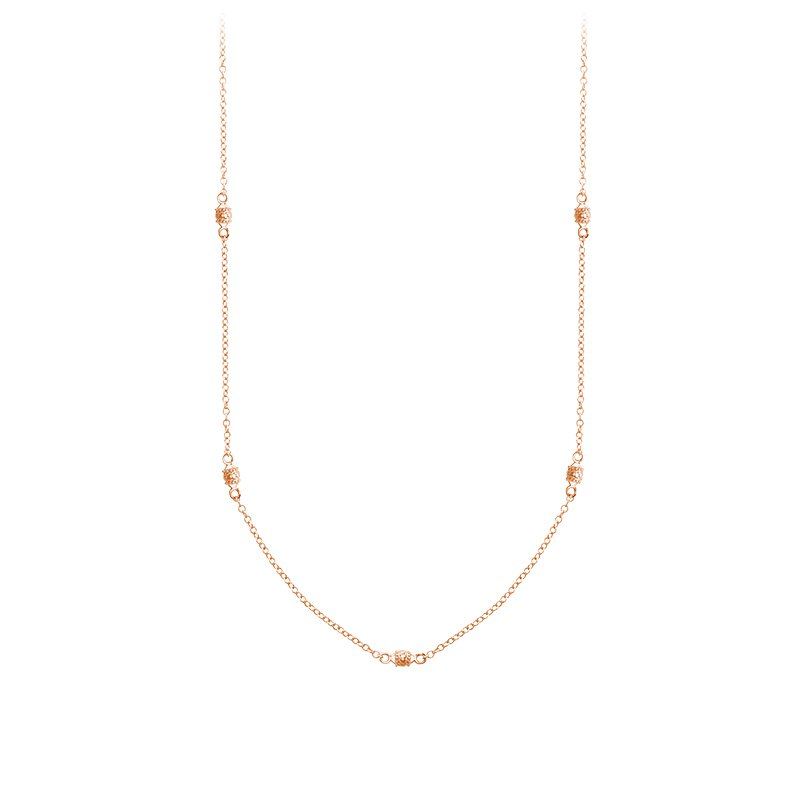 RnB Jewellery Gold Bead Station Necklace