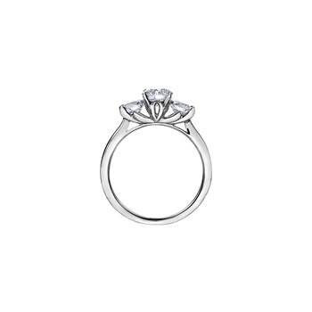 150 Cut Collection Three Stone Engagement Ring