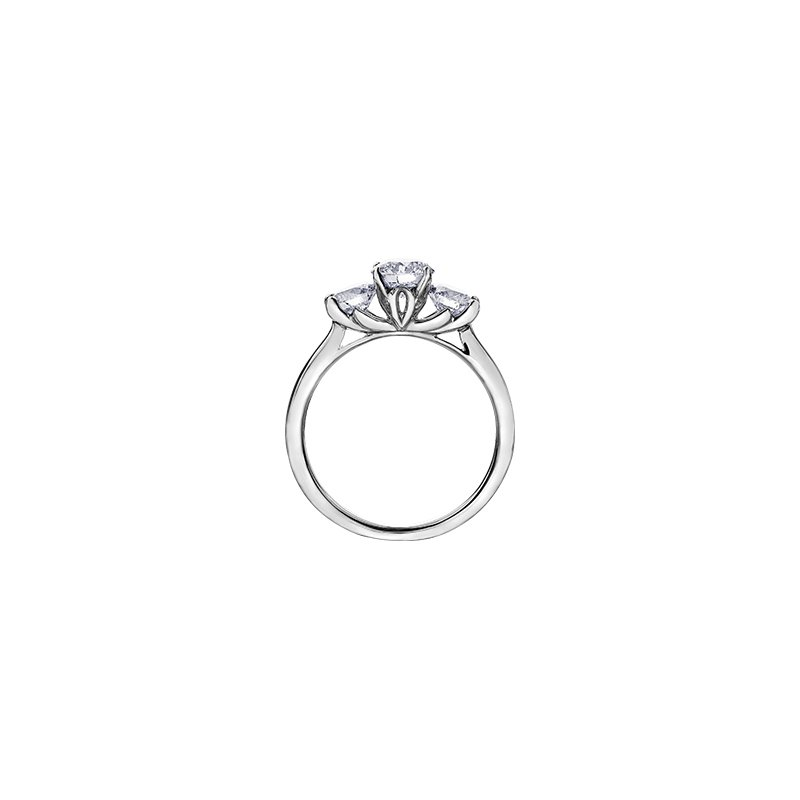 Maple Leaf Diamonds 150 Cut Collection Three Stone Engagement Ring