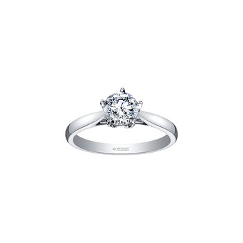 150 Cut Collection Solitaire Ring in White Gold