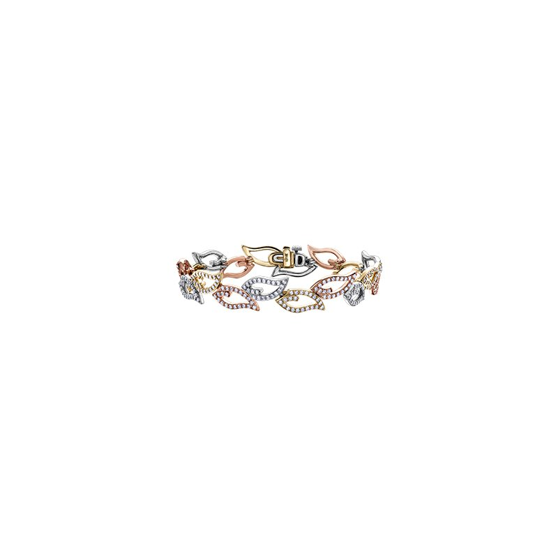 Maple Leaf Diamonds Diamond Leaves Bracelet