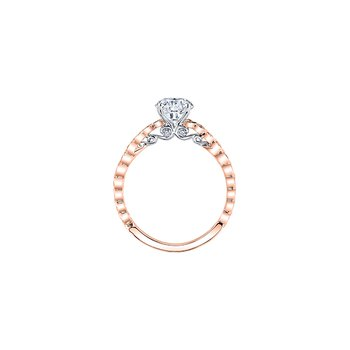 Tides of Love Diamond Band Engagement Ring in Rose Gold
