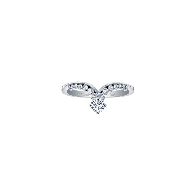 Maple Leaf Diamonds Lily Blossom Ring
