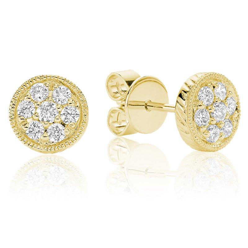 RnB Jewellery Diamond Treasures Round Stud Earrings
