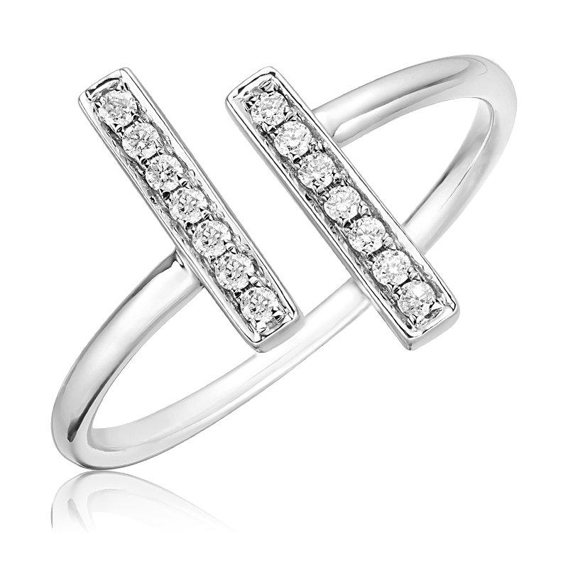 RnB Jewellery Diamond Terminal Open Ring