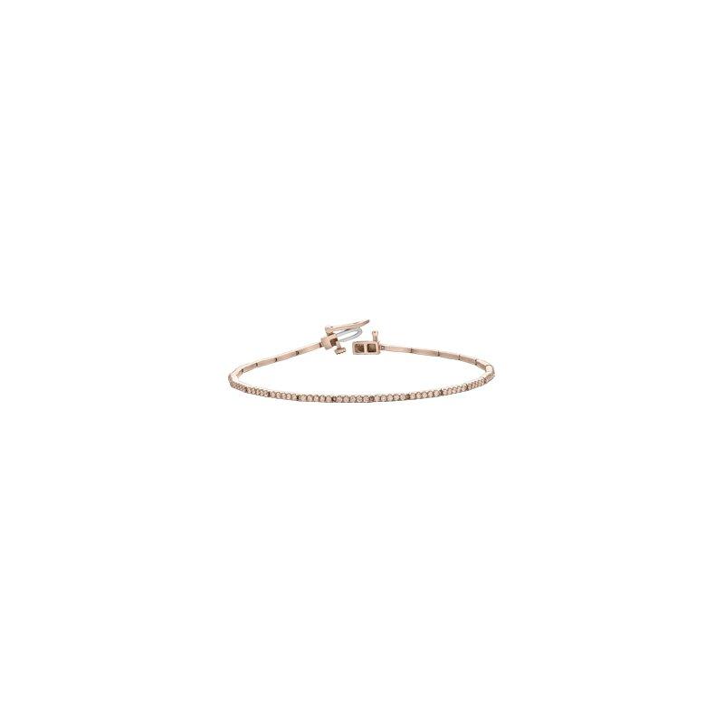 Maple Leaf Diamonds Pave Diamond Line Bracelet