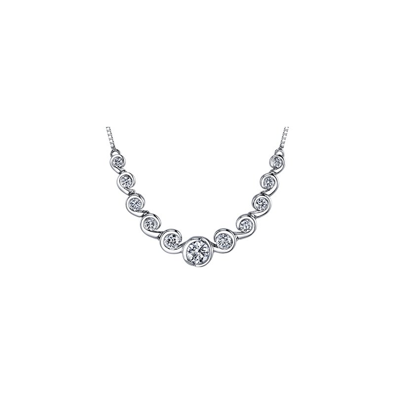 Maple Leaf Diamonds Tides of Love Diamond Necklace