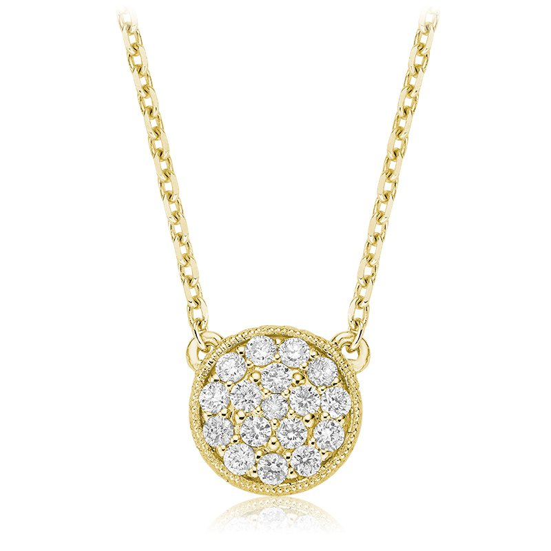 RnB Jewellery Pave Diamond Circle Necklace