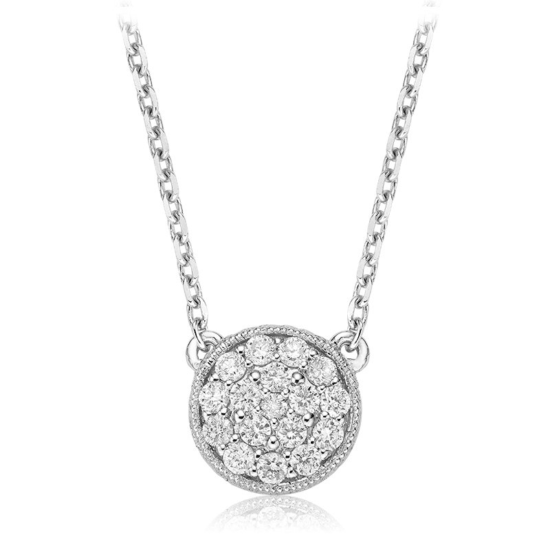 RnB Jewellery Pave Diamond Circle Necklace