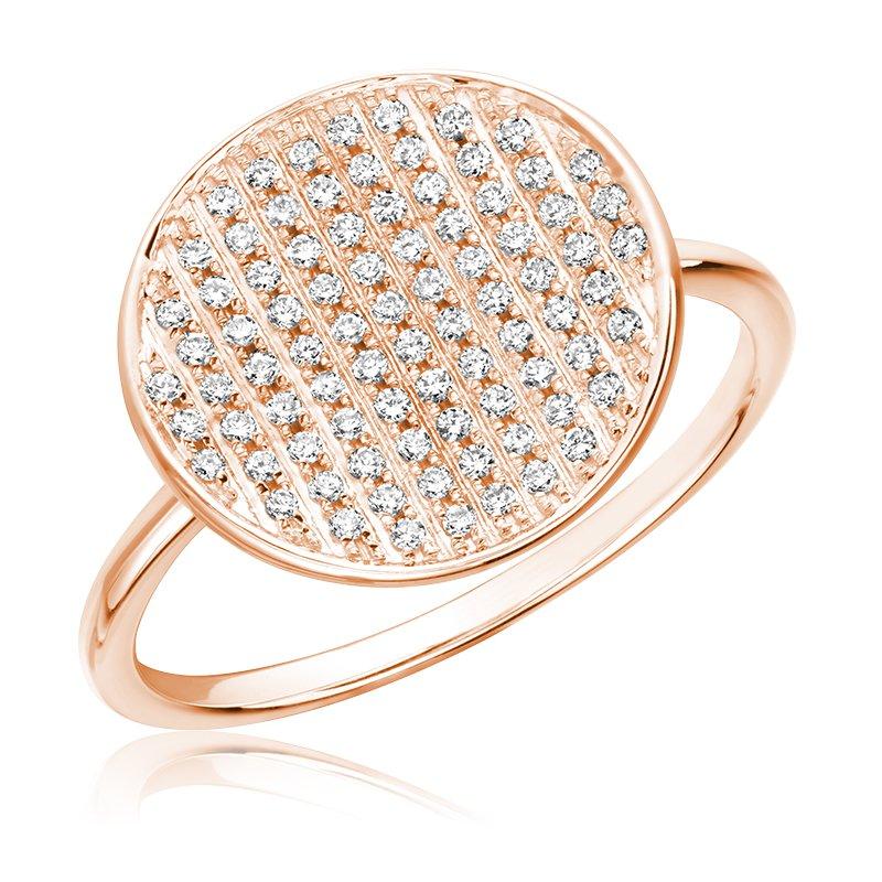 RnB Jewellery Pave Diamond Circle RIng