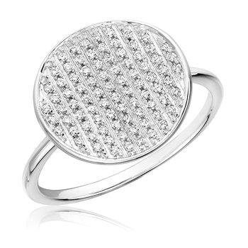 Pave Diamond Circle RIng