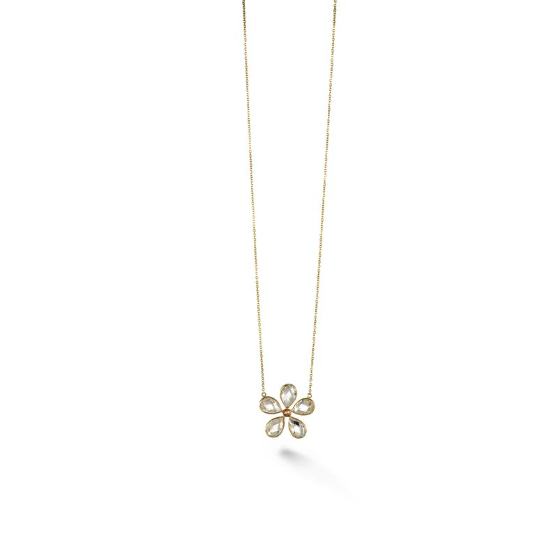 B Couture Multi-Stone Flower Necklace