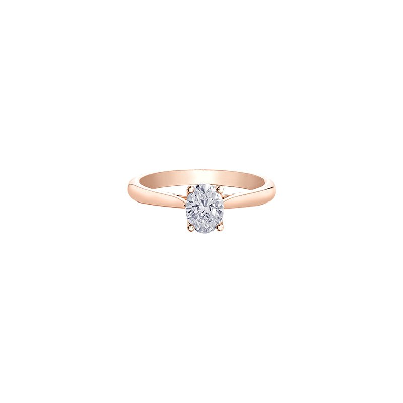 Maple Leaf Diamonds Eternal Flames Oval Solitaire Ring in Rose Gold
