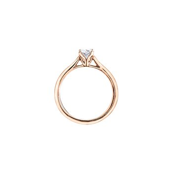 Eternal Flames Oval Solitaire Ring in Rose Gold