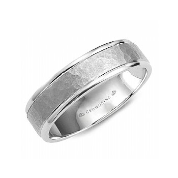 Hammered Centre Wedding Band