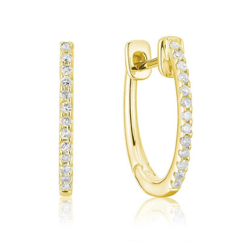 RnB Jewellery Small Diamond Huggie Earrings
