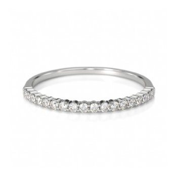 Half Way Diamond Set Shared Prong Band