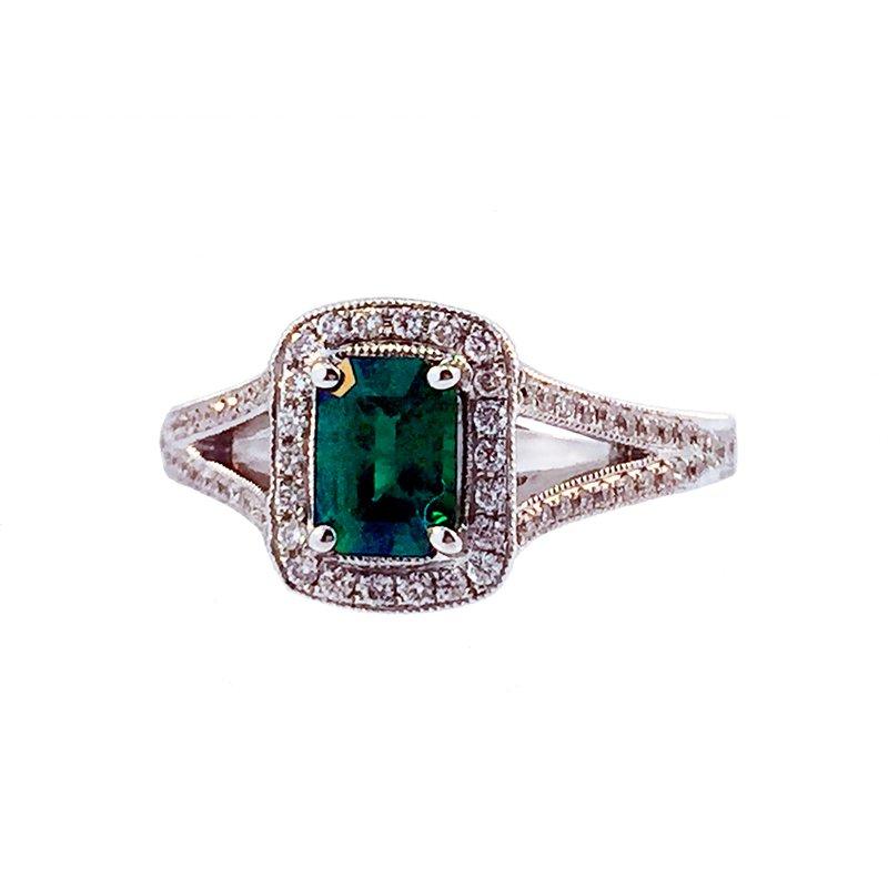 Davidson's Signature Emerald and Diamond Ring