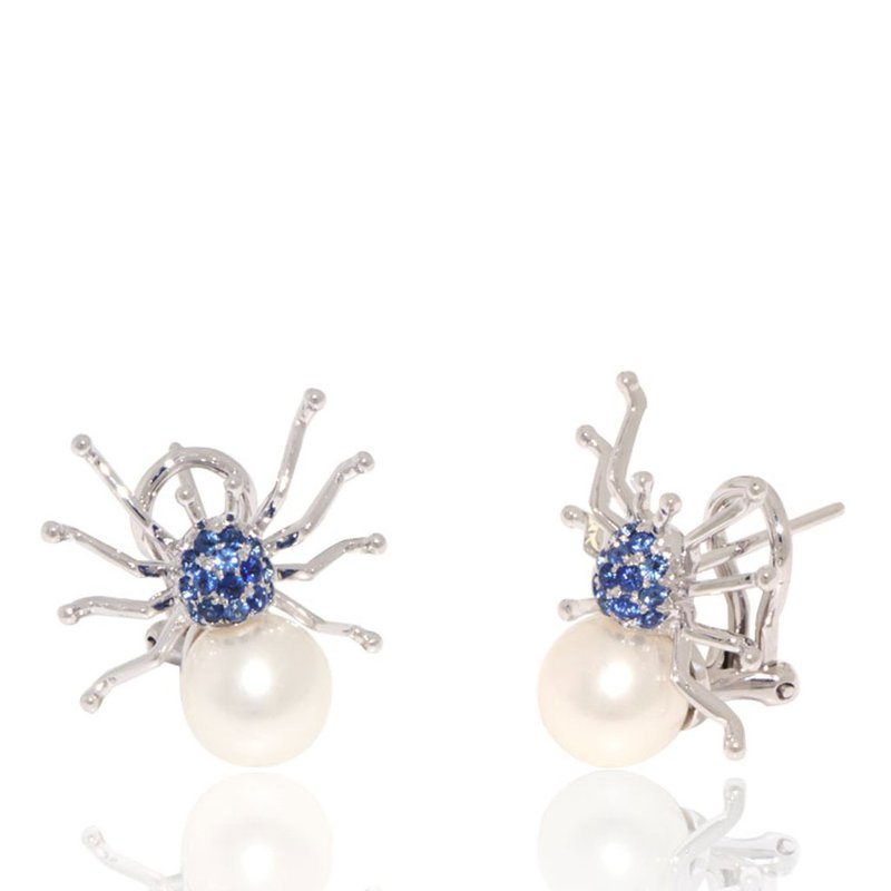 Davidson's Signature Gemstone and Pearl Spider Earrings