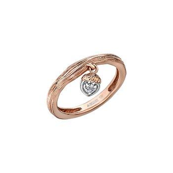Acorn Heart Drop Ring