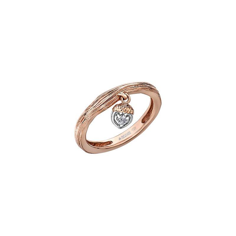 Maple Leaf Diamonds Acorn Heart Drop Ring