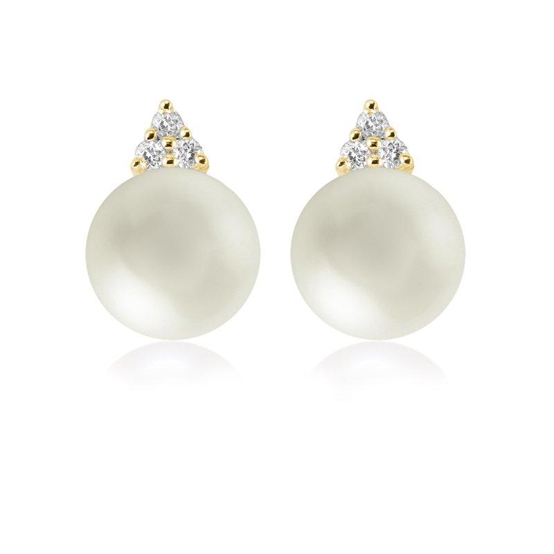 RnB Jewellery Diamond and Pearl Stud Earrings