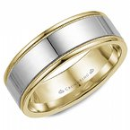 CrownRing Polished Band with Millegrain Edges