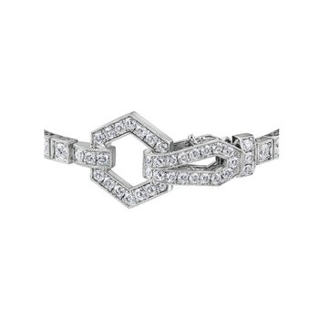 Decorative Clasp Diamond Bracelet