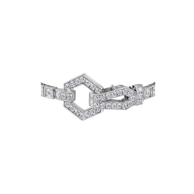 Maple Leaf Diamonds Decorative Clasp Diamond Bracelet