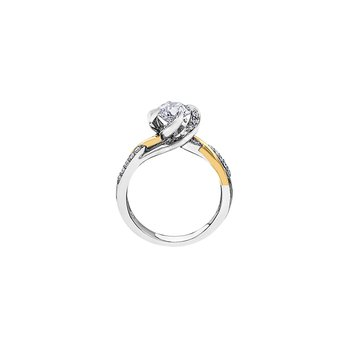 Wind's Embrace Diamond Wrap Engagement Ring in White and Yellow Gold