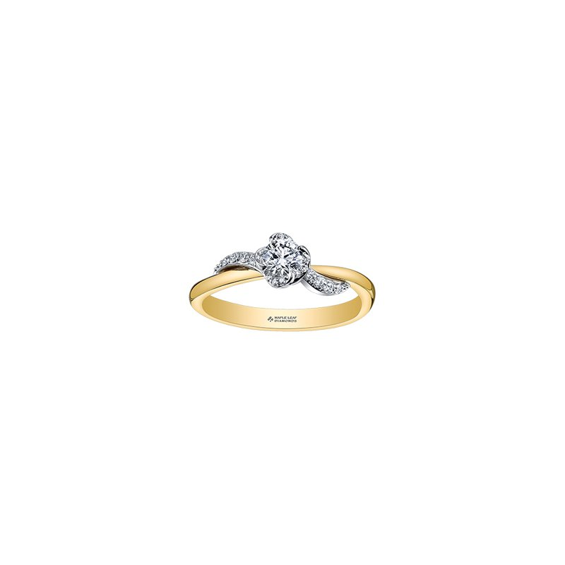 Maple Leaf Diamonds Wind's Embrace Diamond Wrap Engagement Ring in Yellow Gold