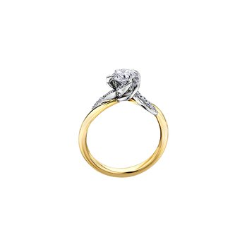 Wind's Embrace Diamond Wrap Engagement Ring in Yellow Gold