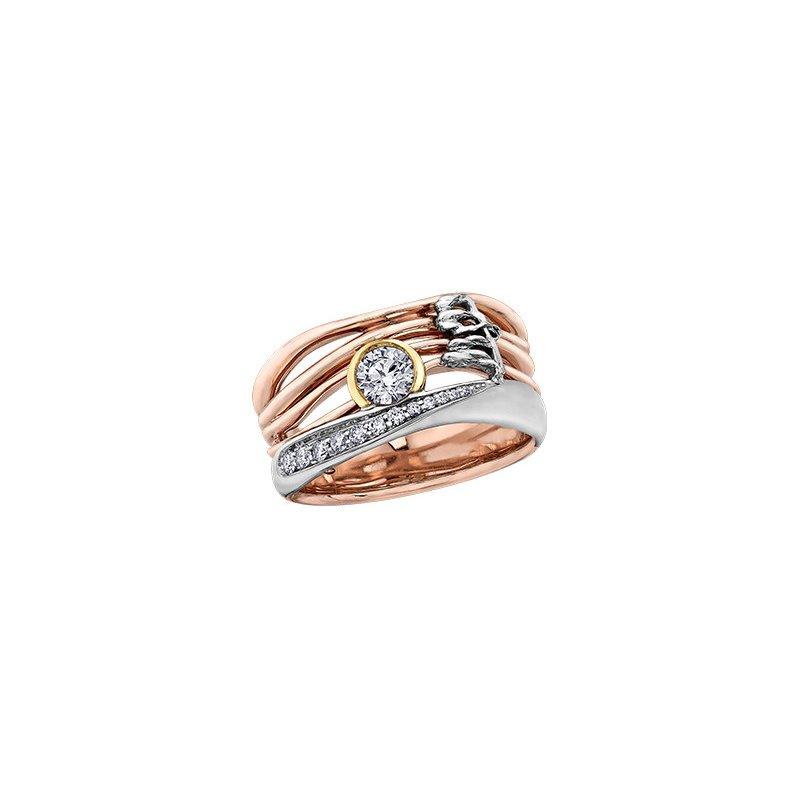 Maple Leaf Diamonds Summer Canadian Sunset Ring