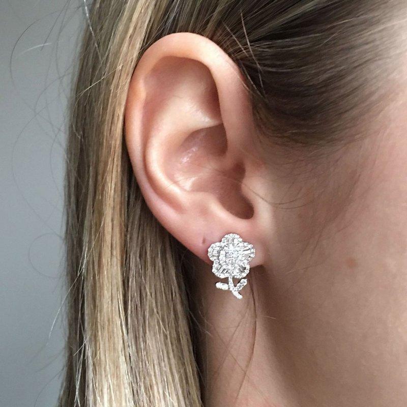 Davidson's Signature Diamond Flower Earrings