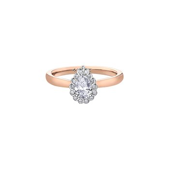 Tides of Love Pear Halo Engagement Ring