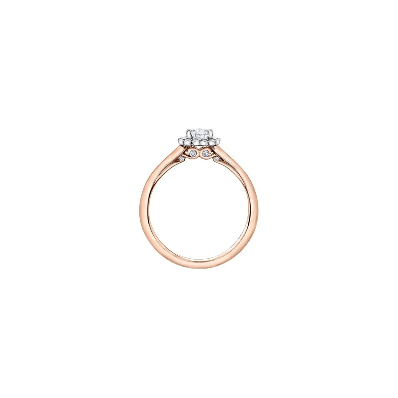 Maple Leaf Diamonds Tides of Love Pear Halo Engagement Ring