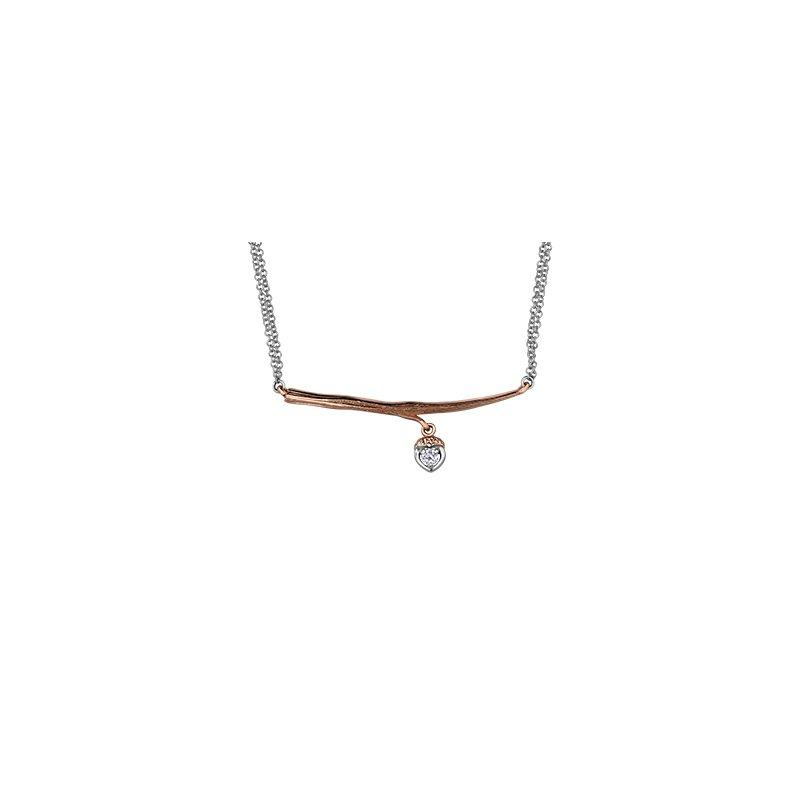 Maple Leaf Diamonds Twiggy Love Necklace