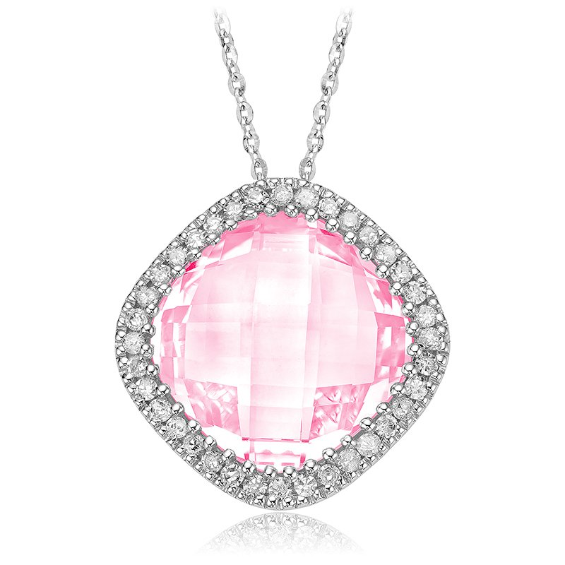 RnB Jewellery Gemstone and Diamond Pendant