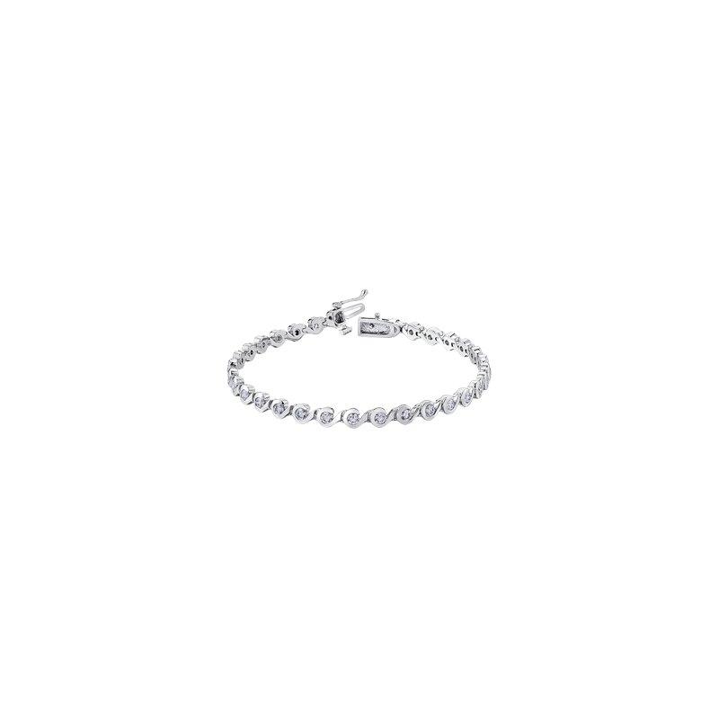 Maple Leaf Diamonds Tides of Love Diamond Line Bracelet