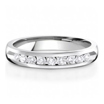 Half Way Channel Set Diamond Band