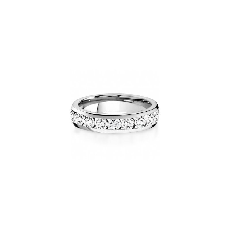 CrownRing Half Way Channel Set Diamond Band