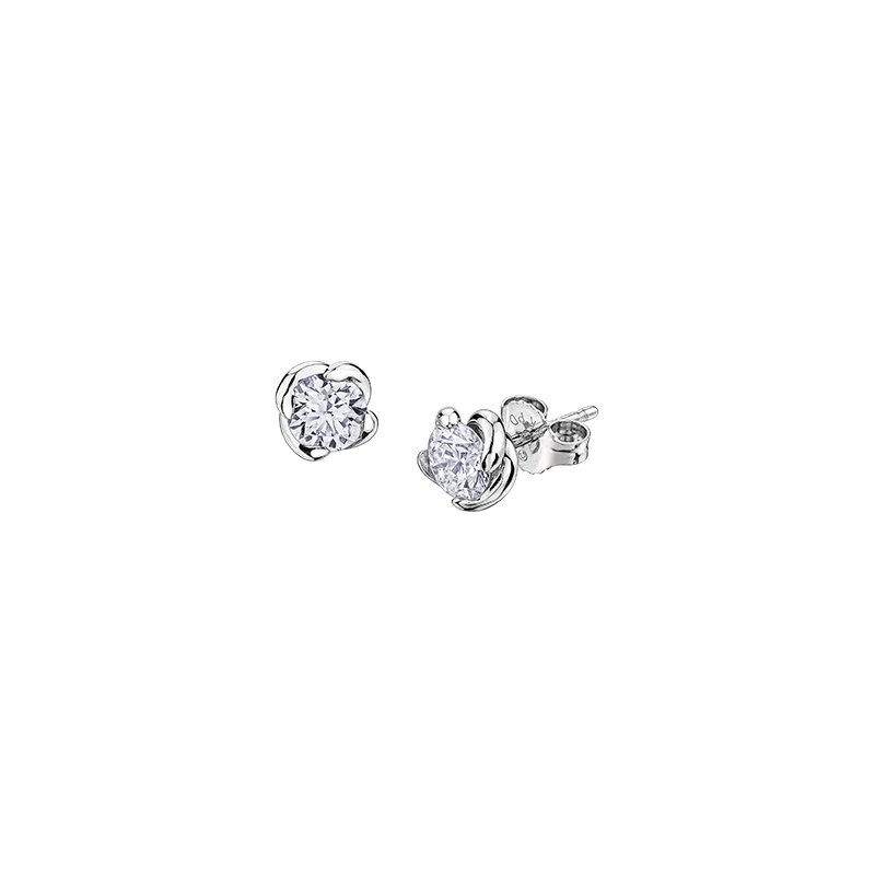 Maple Leaf Diamonds Wind's Embrace Diamond Stud Earrings