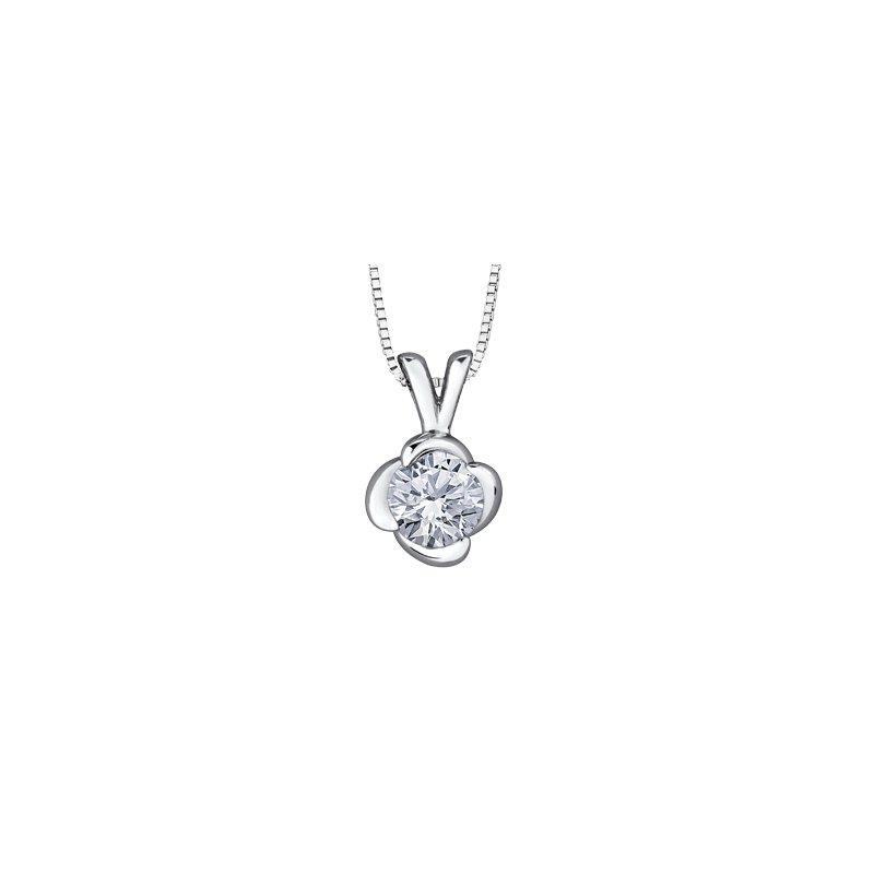 Maple Leaf Diamonds Wind's Embrace Solitaire Pendant