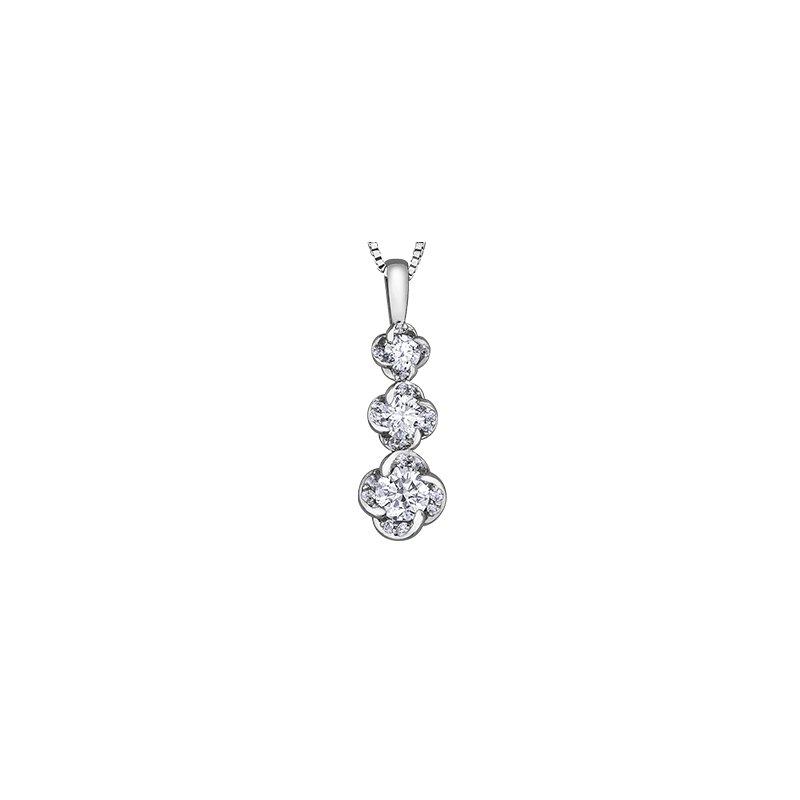 Maple Leaf Diamonds Wind's Embrace Graduated Pendant
