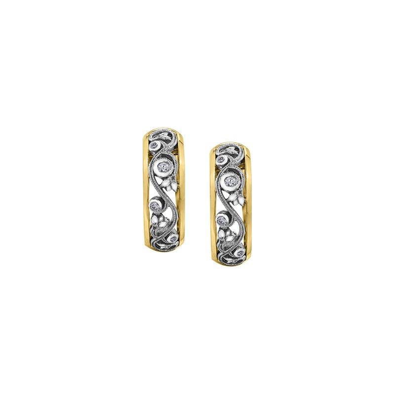 Maple Leaf Diamonds Summer Enchanted Garden Hoop Earrings