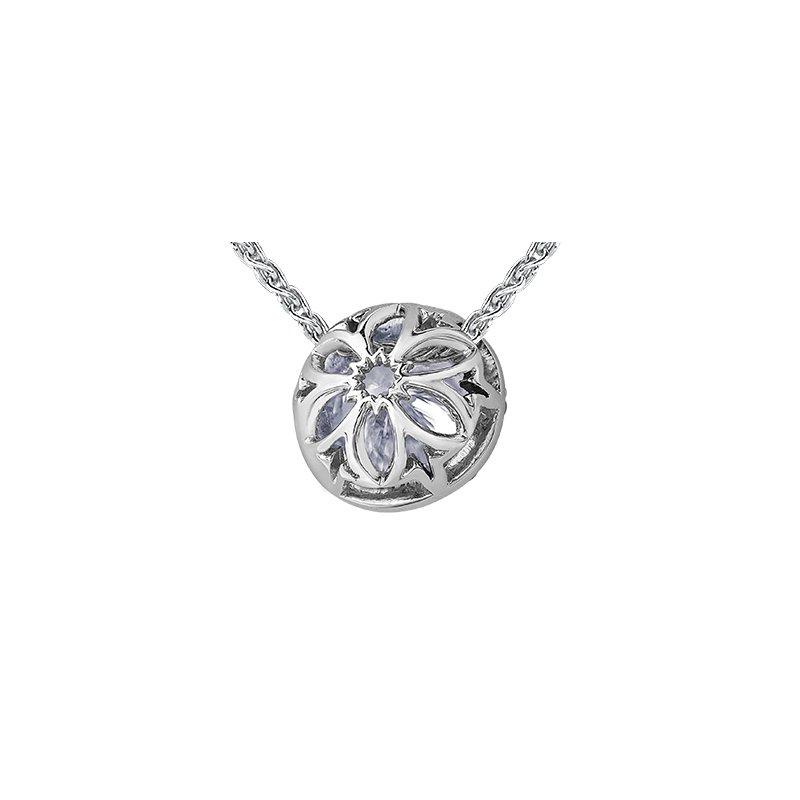 Maple Leaf Diamonds 150 Cut Collection Diamond Halo Pendant
