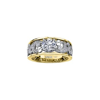 Summer Enchanted Garden Engagement Ring in Yellow Gold