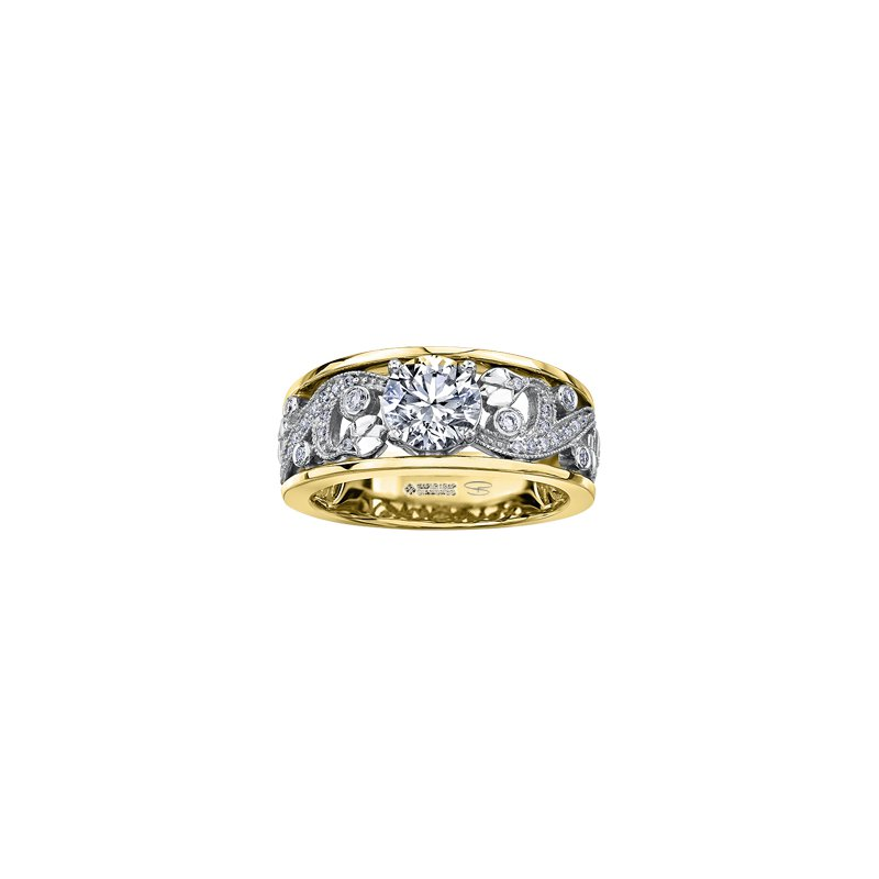 Maple Leaf Diamonds Summer Enchanted Garden Engagement Ring in Yellow Gold