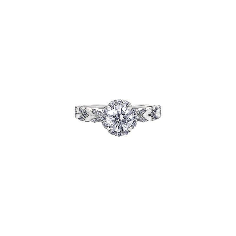 Maple Leaf Diamonds Eternal Flames Diamond Set Chevron Engagement Ring